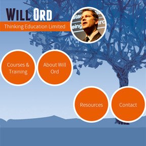 Will Ord's Thinking Education website by The Web Booth