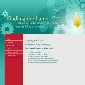 Kindling the Flame educational consultant website by The Web Booth