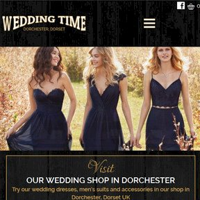 Wedding Time e-commerce shop website by The Web Booth