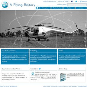 A Flying History e-commerce shop website by The Web Booth