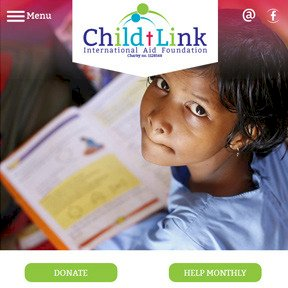 Child-Link charity website by The Web Booth
