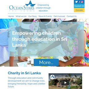 Ocean Stars Sri Lanka charity website by The Web Booth