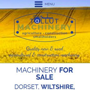 Tallut Machinery website by The Web Booth