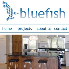 Bluefish Contractors website by The Web Booth