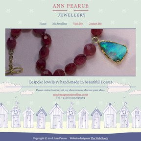 Ann Pearce Jewellery website by The Web Booth