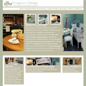 Frogmore Design website by The Web Booth