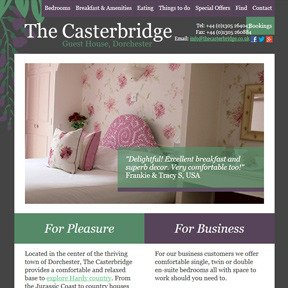The Casterbridge website by The Web Booth