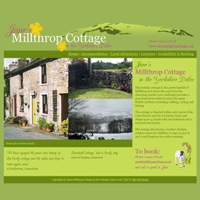 Millthrop Cottage website by The Web Booth