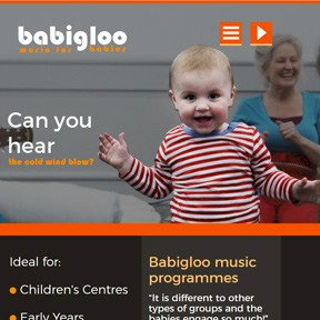Babigloo website by The Web Booth