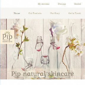 Pip Natural Skincare website by The Web Booth