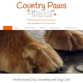 Country Paws Grooming website by The Web Booth