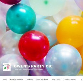 Owens Party website by The Web Booth