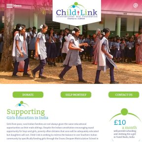 Child Link Charity Website
