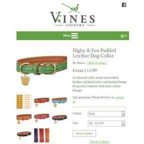 Vines Product Options